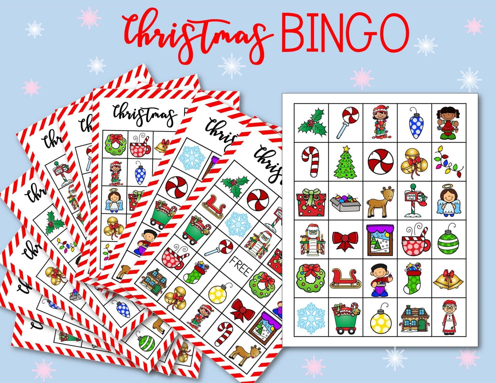 Free Printable Christmas Bingo Cards For Kids Classrooms Happy Homeschool Nest