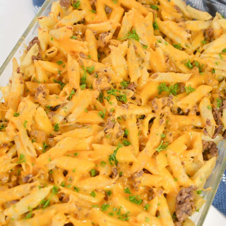 Simple Baked Beef and Pasta Casserole