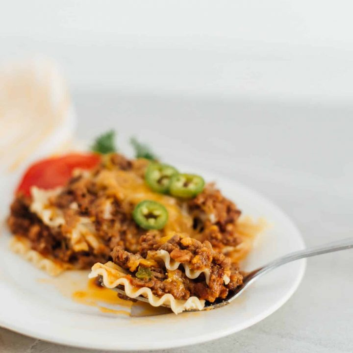 Mexican Lasagna Recipe with Beef