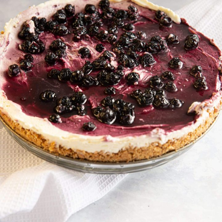 Decadent No Bake Blueberry Cheesecake