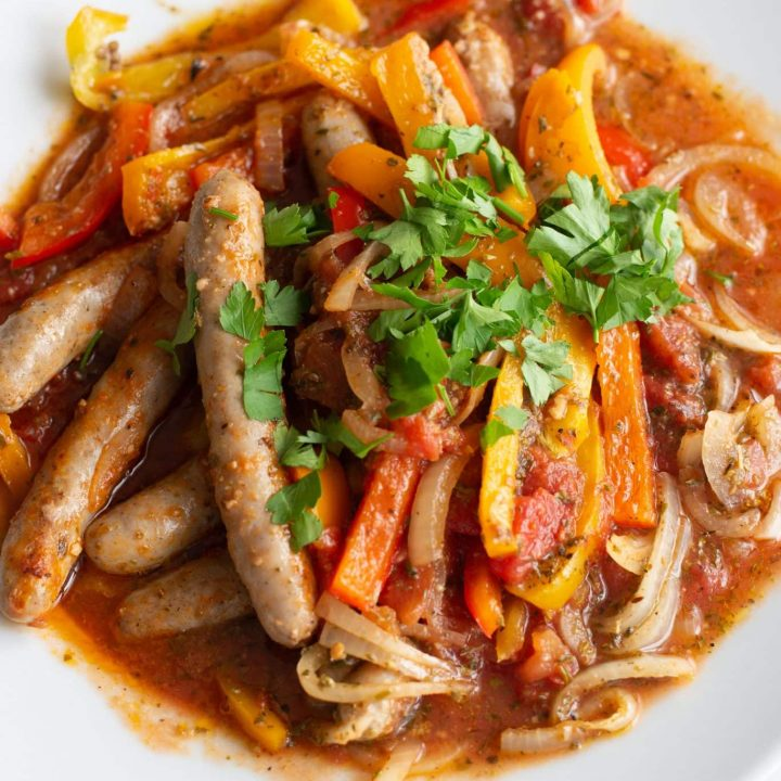 Easy Sausage with Onions and Peppers