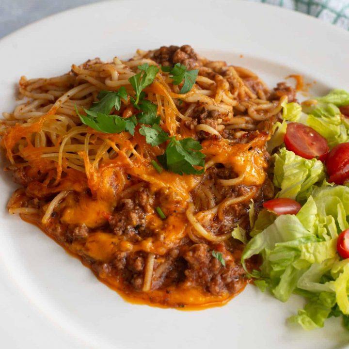 The Best Taco Spaghetti